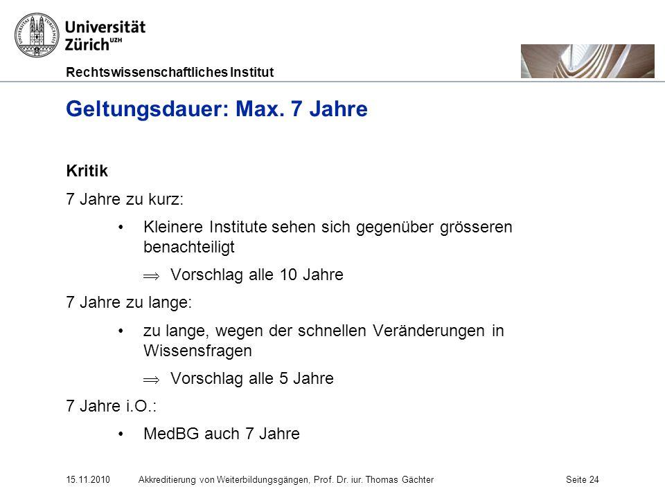 Geltungsdauer: Max. 7 Jahre