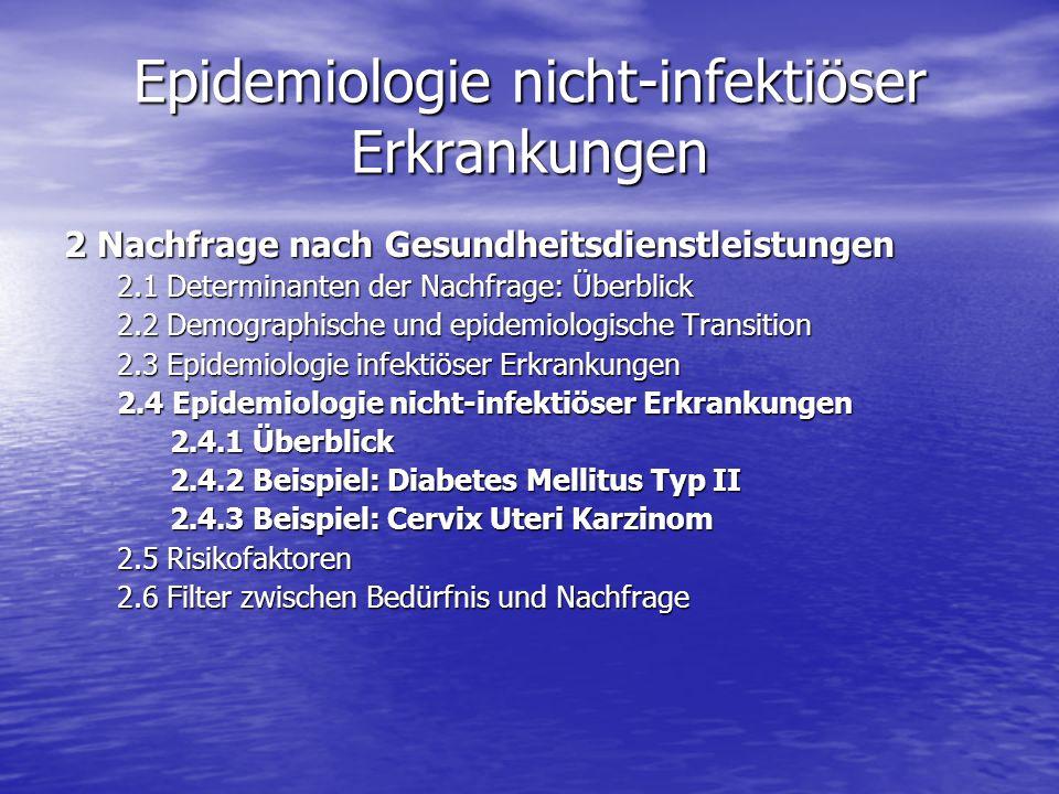Epidemiologie nicht-infektiöser Erkrankungen