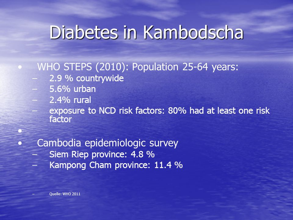 Diabetes in Kambodscha
