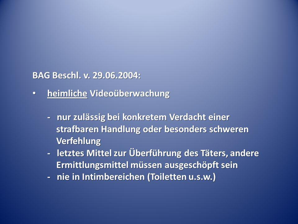 BAG Beschl. v. 29.06.2004: