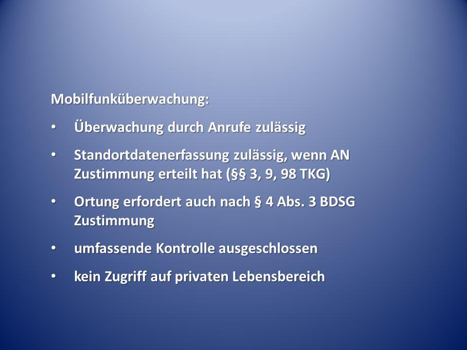 Mobilfunküberwachung: