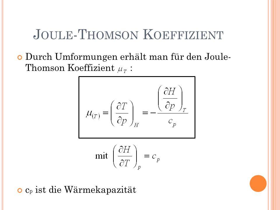 Joule-Thomson Koeffizient
