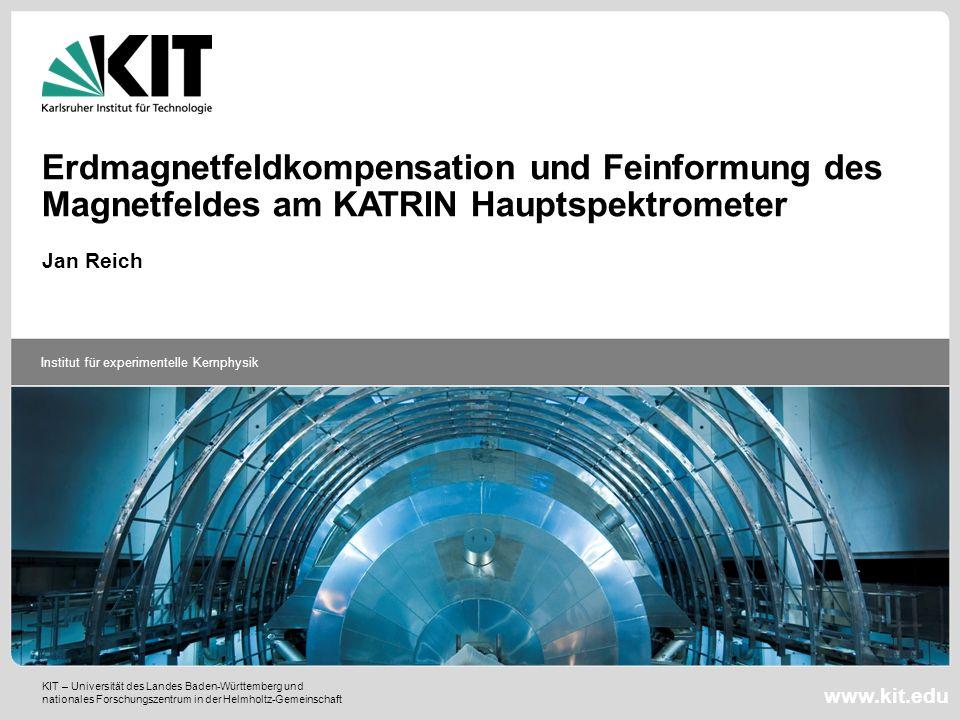 Erdmagnetfeldkompensation und Feinformung des Magnetfeldes am KATRIN Hauptspektrometer