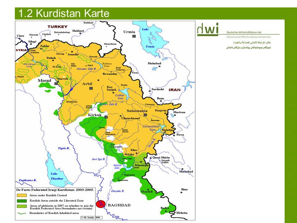 1.2 Kurdistan Karte ………………………………………………………………