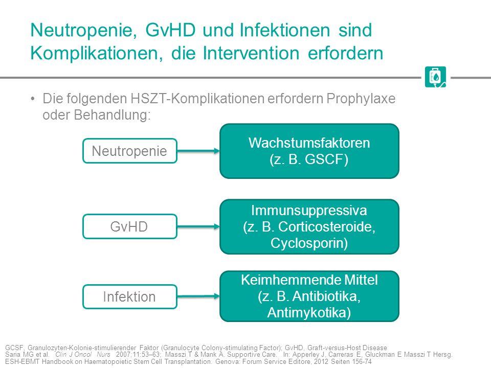 Neutropenie, GvHD und Infektionen sind Komplikationen, die Intervention erfordern