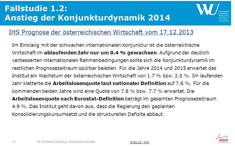 Fallstudie 1.2: Anstieg der Konjunkturdynamik 2014