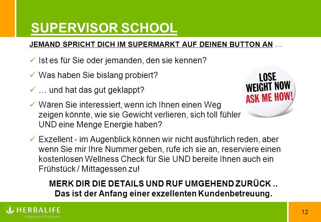 SUPERVISOR SCHOOL Ist es für Sie oder jemanden, den sie kennen