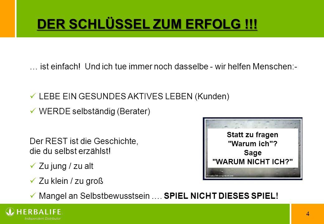 DER SCHLÜSSEL ZUM ERFOLG !!!
