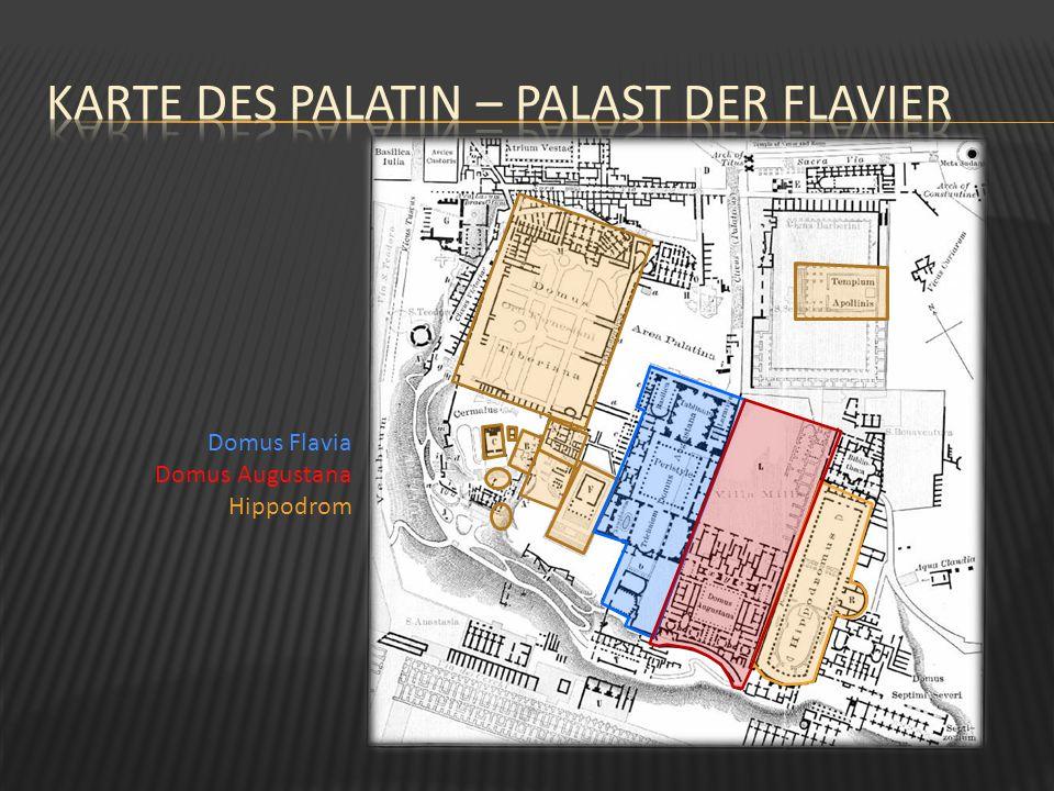 Karte des palatin – Palast der Flavier