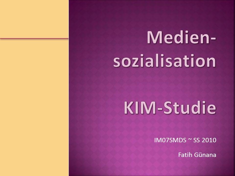 Medien-sozialisation KIM-Studie