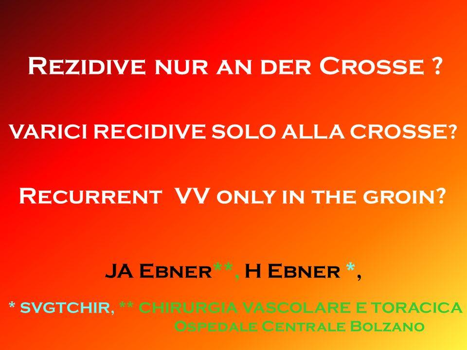 Rezidive nur an der Crosse