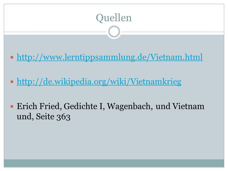 Quellen http://www.lerntippsammlung.de/Vietnam.html