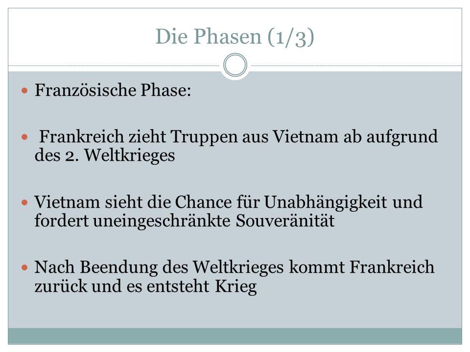 Die Phasen (1/3) Französische Phase: