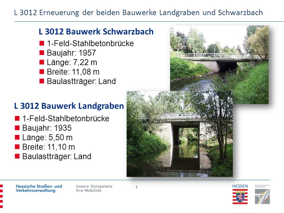 L 3012 Bauwerk Schwarzbach L 3012 Bauwerk Landgraben