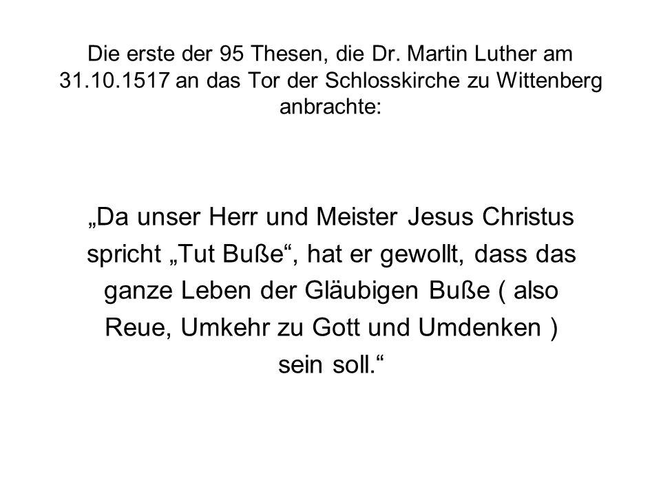 """""""Da unser Herr und Meister Jesus Christus"""