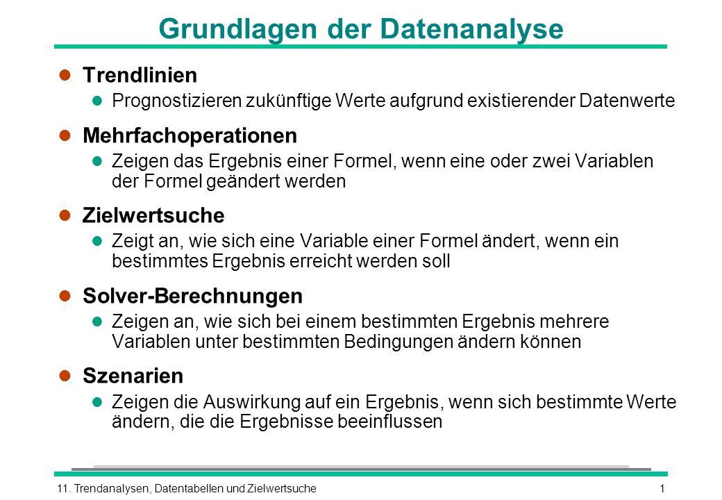 Grundlagen der Datenanalyse