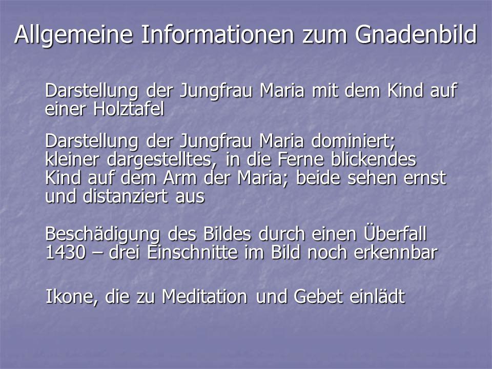 Allgemeine Informationen zum Gnadenbild