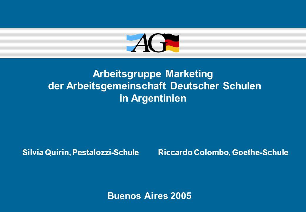 Arbeitsgruppe Marketing der Arbeitsgemeinschaft Deutscher Schulen