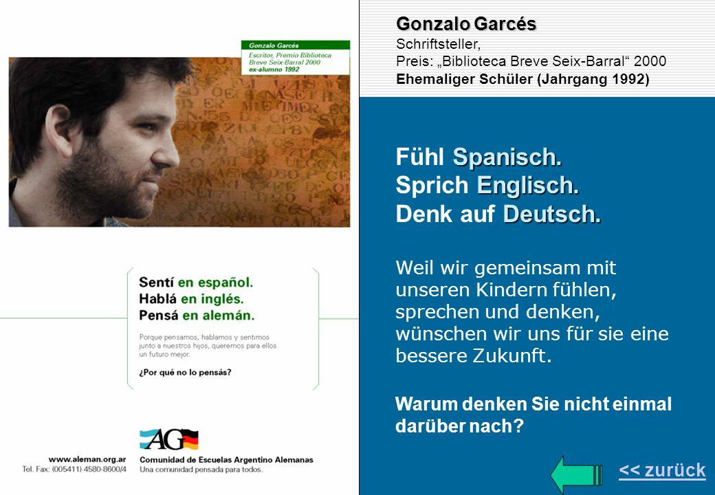 Fühl Spanisch. Sprich Englisch. Denk auf Deutsch. Gonzalo Garcés