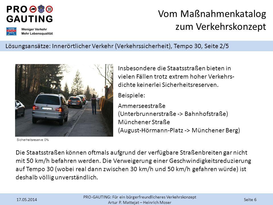 Vom Maßnahmenkatalog zum Verkehrskonzept