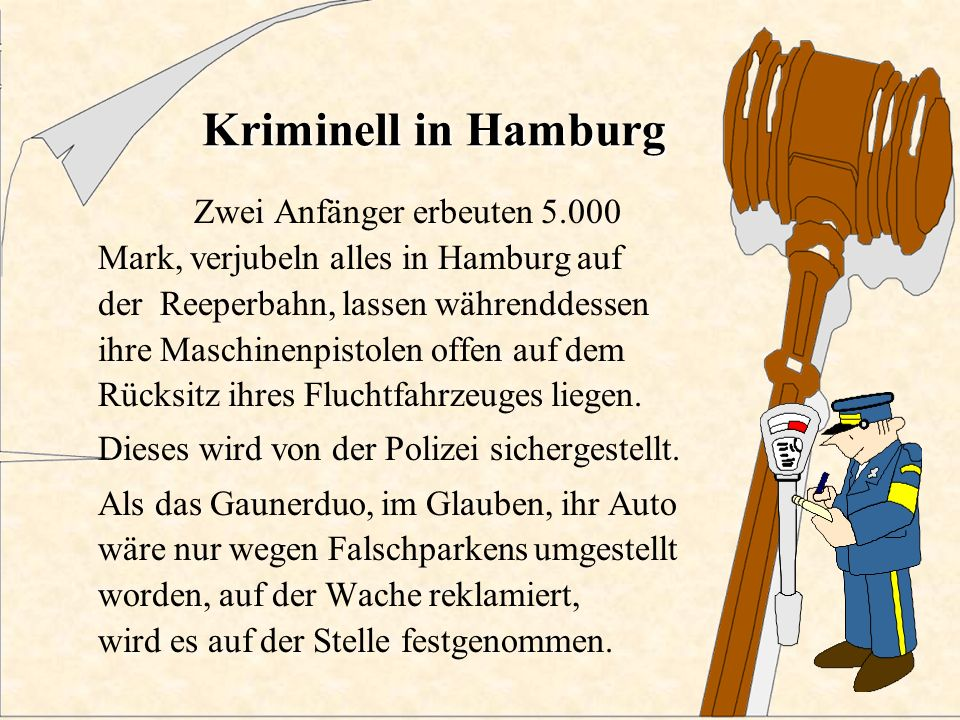 Kriminell in Hamburg