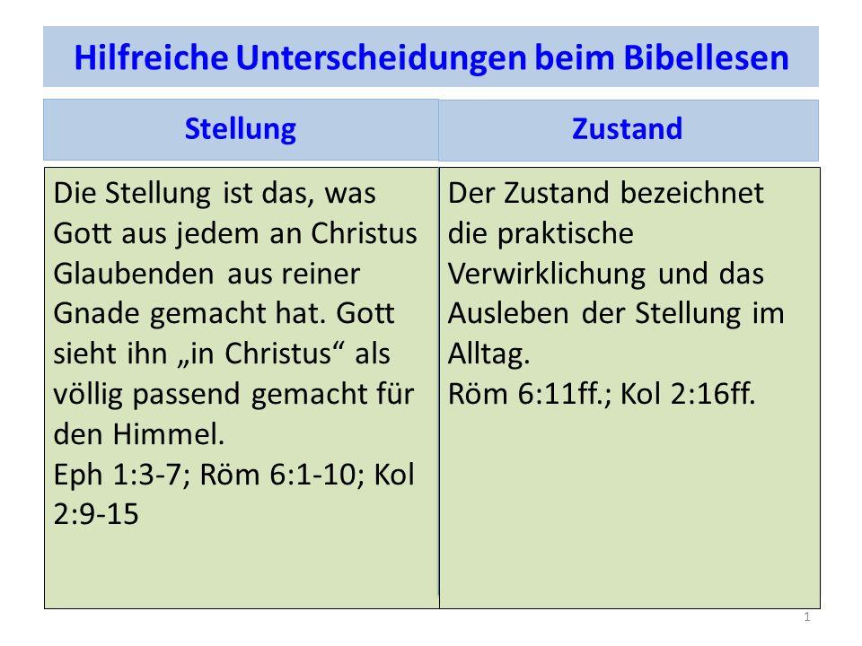 Hilfreiche Unterscheidungen beim Bibellesen