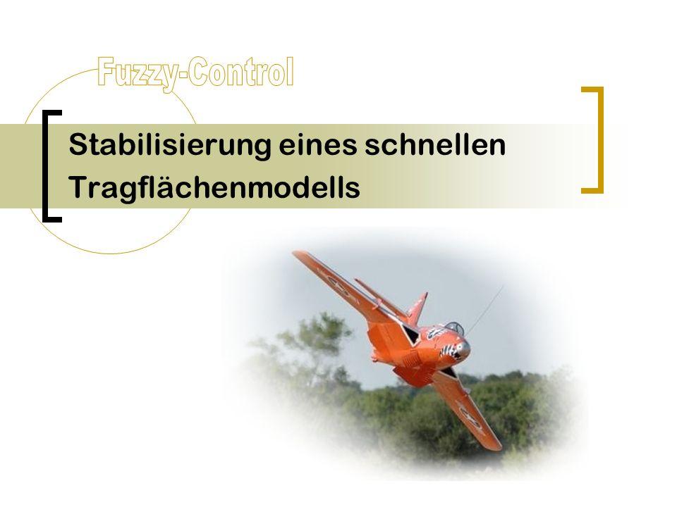 Stabilisierung eines schnellen Tragflächenmodells