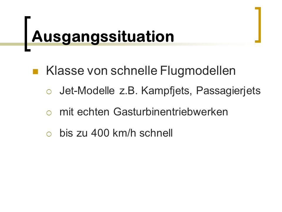 Ausgangssituation Klasse von schnelle Flugmodellen