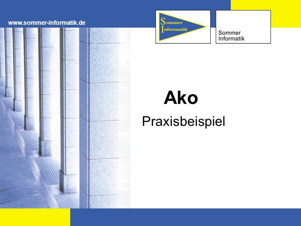 www.sommer-informatik.de Ako Praxisbeispiel