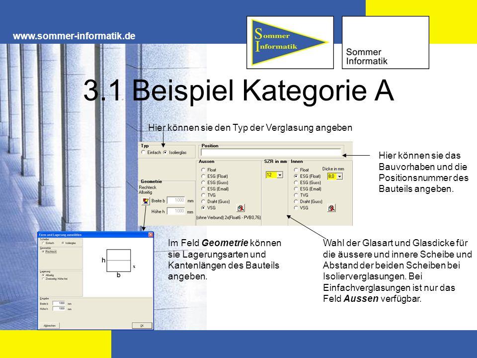 3.1 Beispiel Kategorie A www.sommer-informatik.de