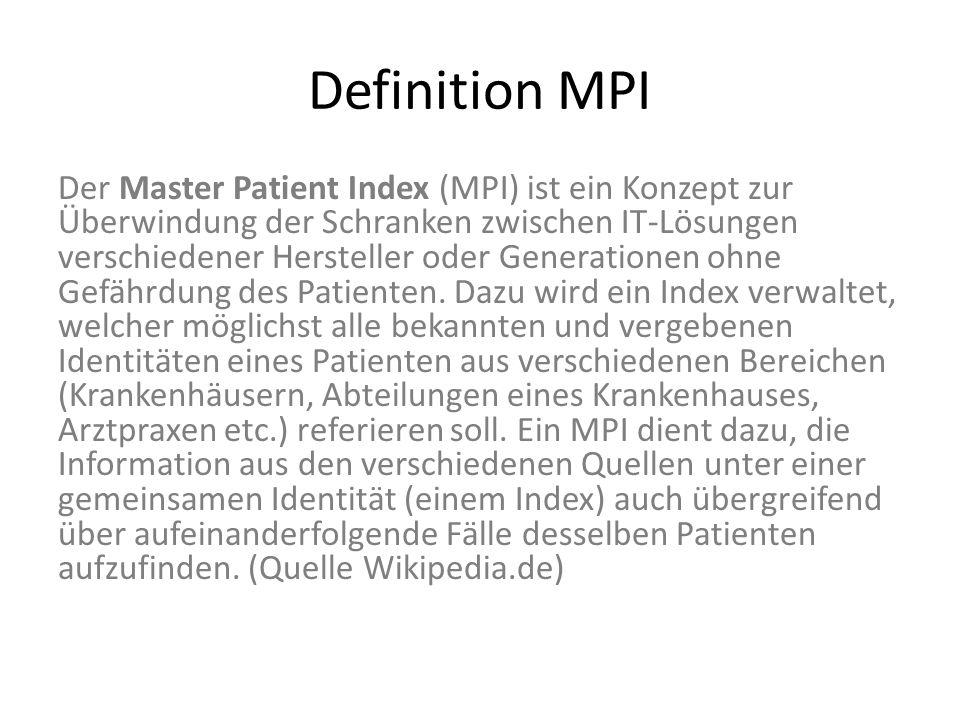 Definition MPI