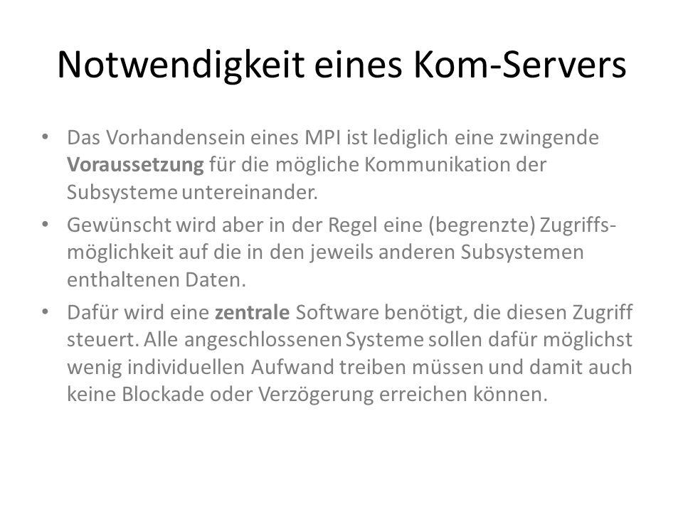 Notwendigkeit eines Kom-Servers