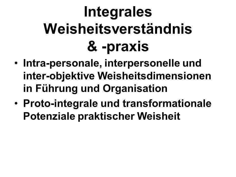 Integrales Weisheitsverständnis & -praxis