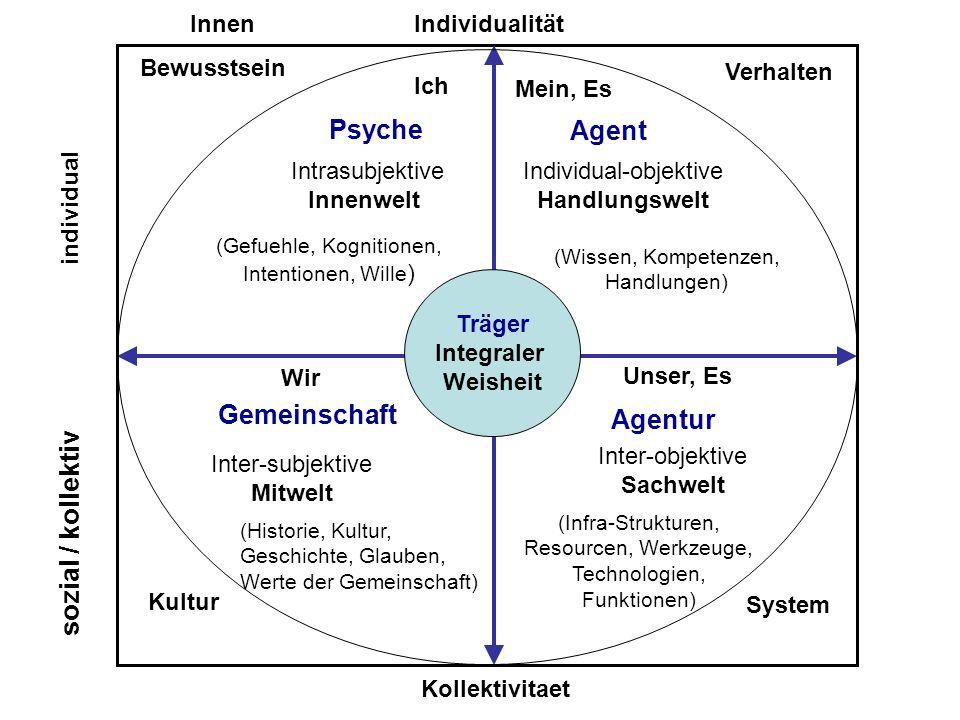 Psyche Agent Gemeinschaft Agentur sozial / kollektiv Individualität