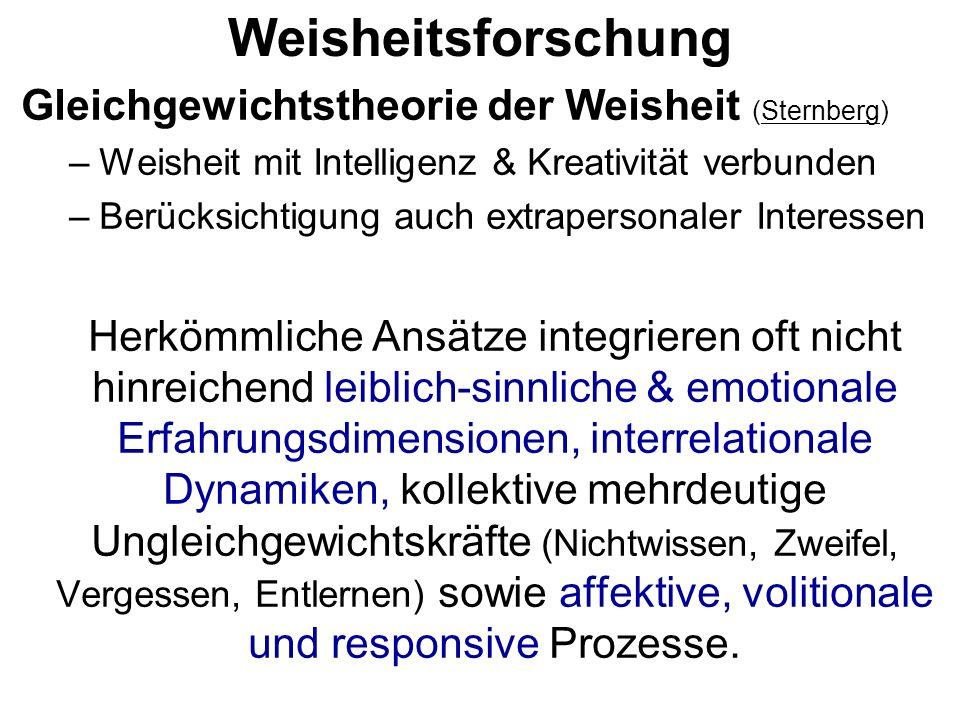 Weisheitsforschung Gleichgewichtstheorie der Weisheit (Sternberg)