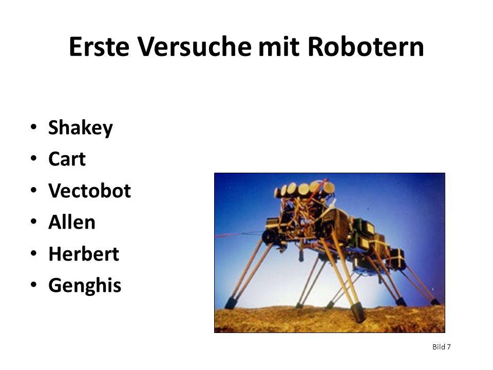 Erste Versuche mit Robotern