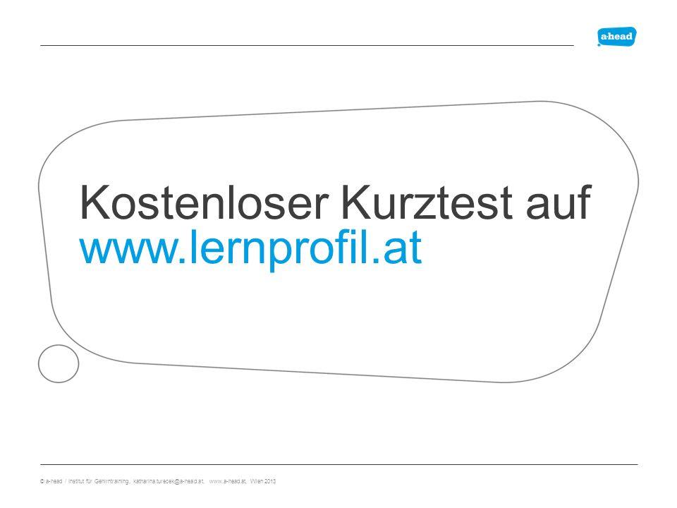 Kostenloser Kurztest auf www.lernprofil.at