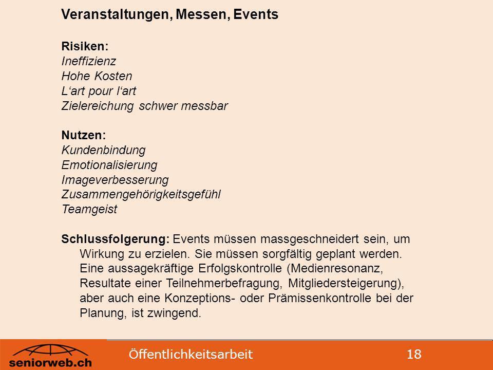 Veranstaltungen, Messen, Events