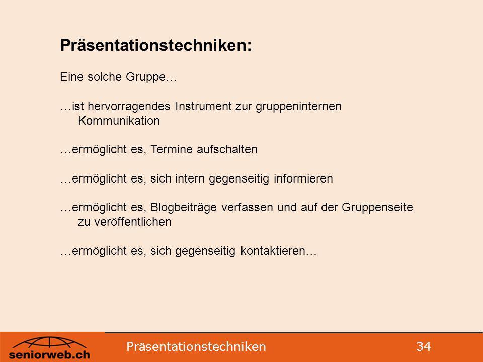 Präsentationstechniken: