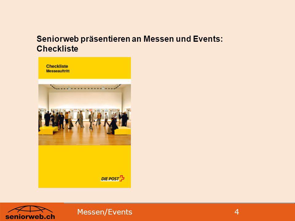 Seniorweb präsentieren an Messen und Events: Checkliste