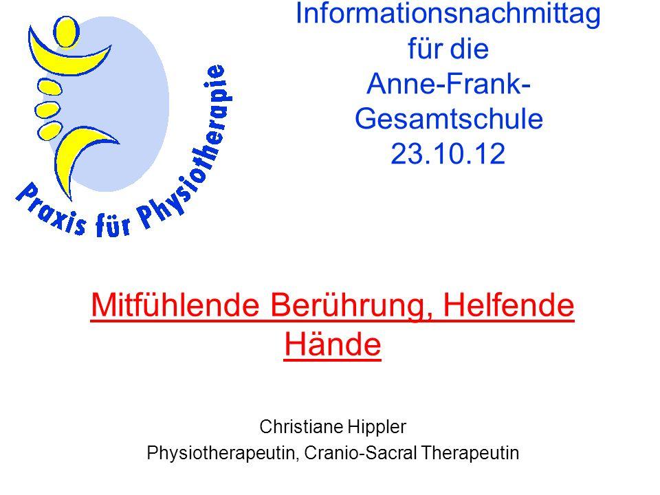 Informationsnachmittag für die Anne-Frank-Gesamtschule 23.10.12
