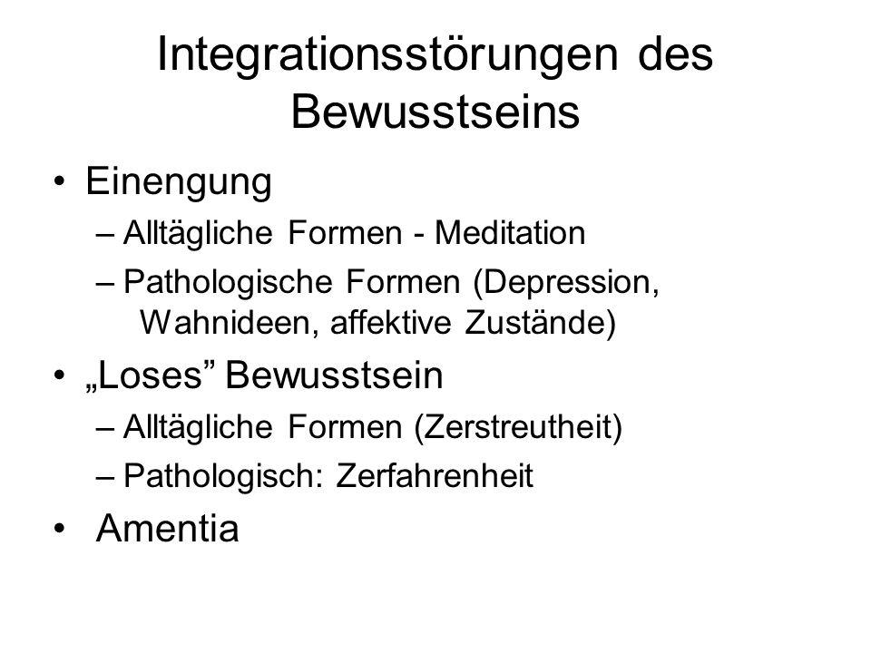 Integrationsstörungen des Bewusstseins