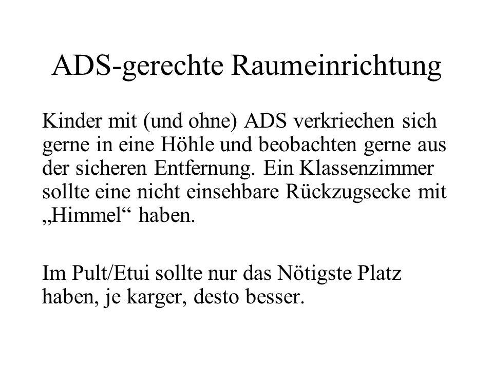 ADS-gerechte Raumeinrichtung