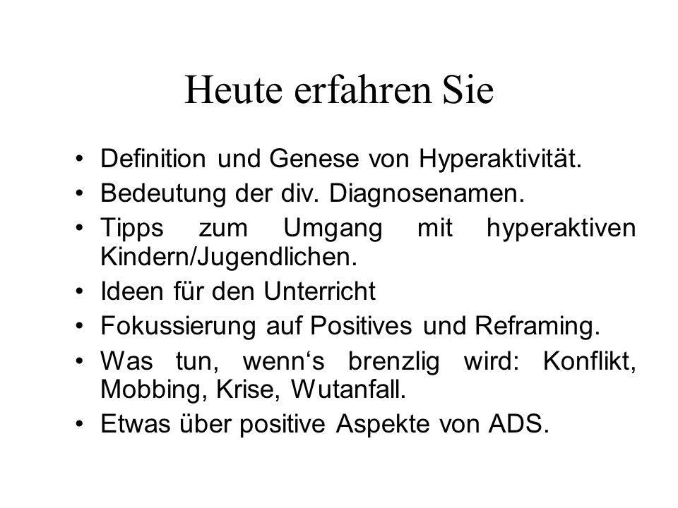 Heute erfahren Sie Definition und Genese von Hyperaktivität.