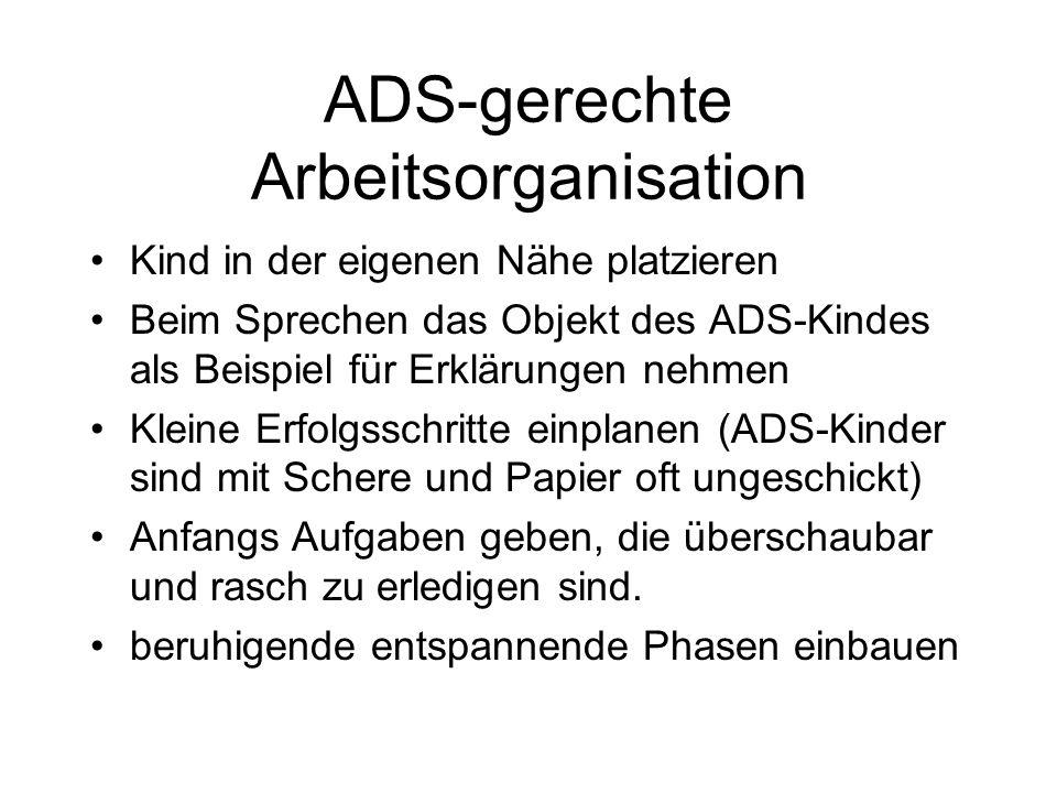 ADS-gerechte Arbeitsorganisation