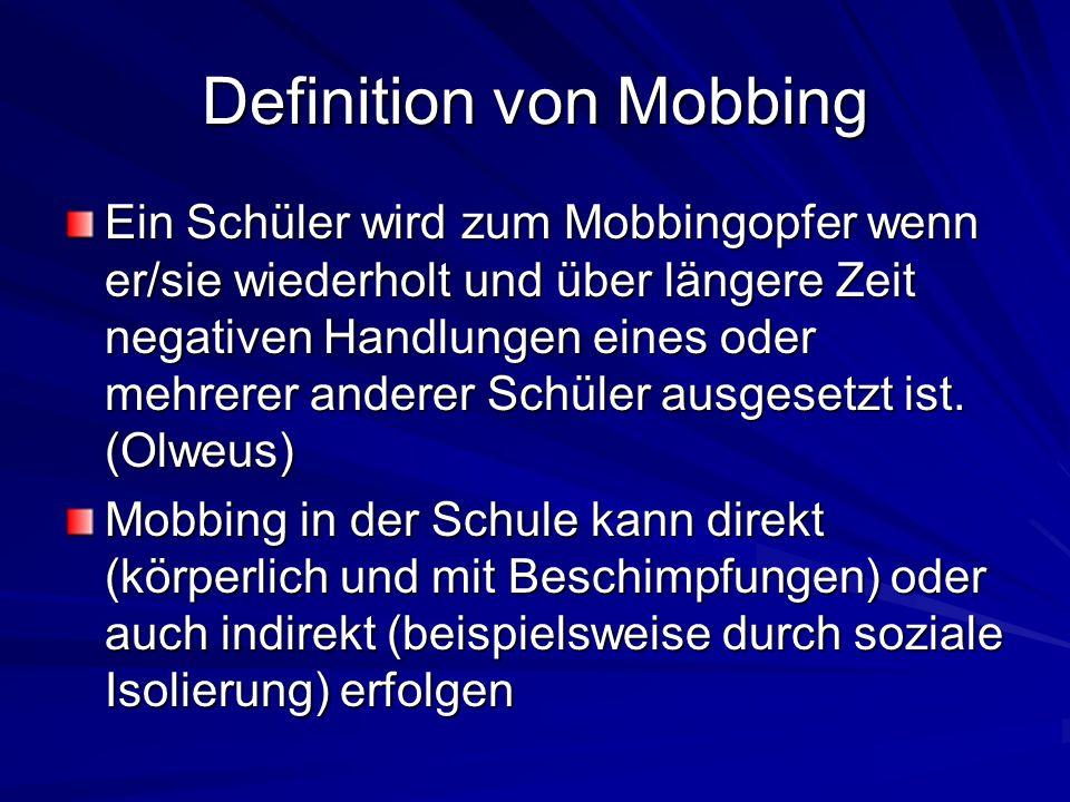 Definition von Mobbing