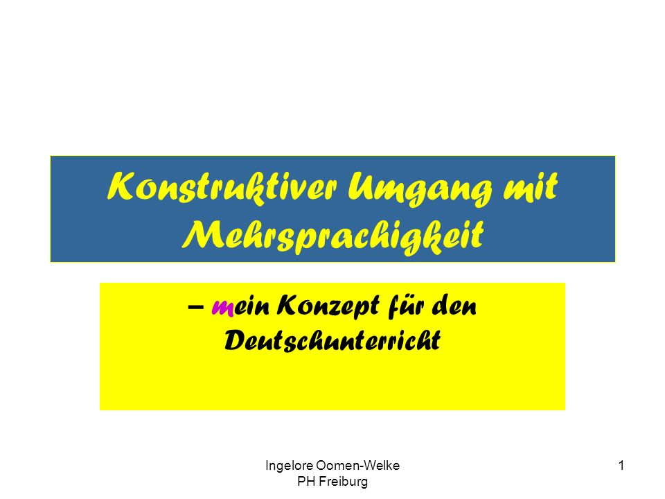 Konstruktiver Umgang mit Mehrsprachigkeit