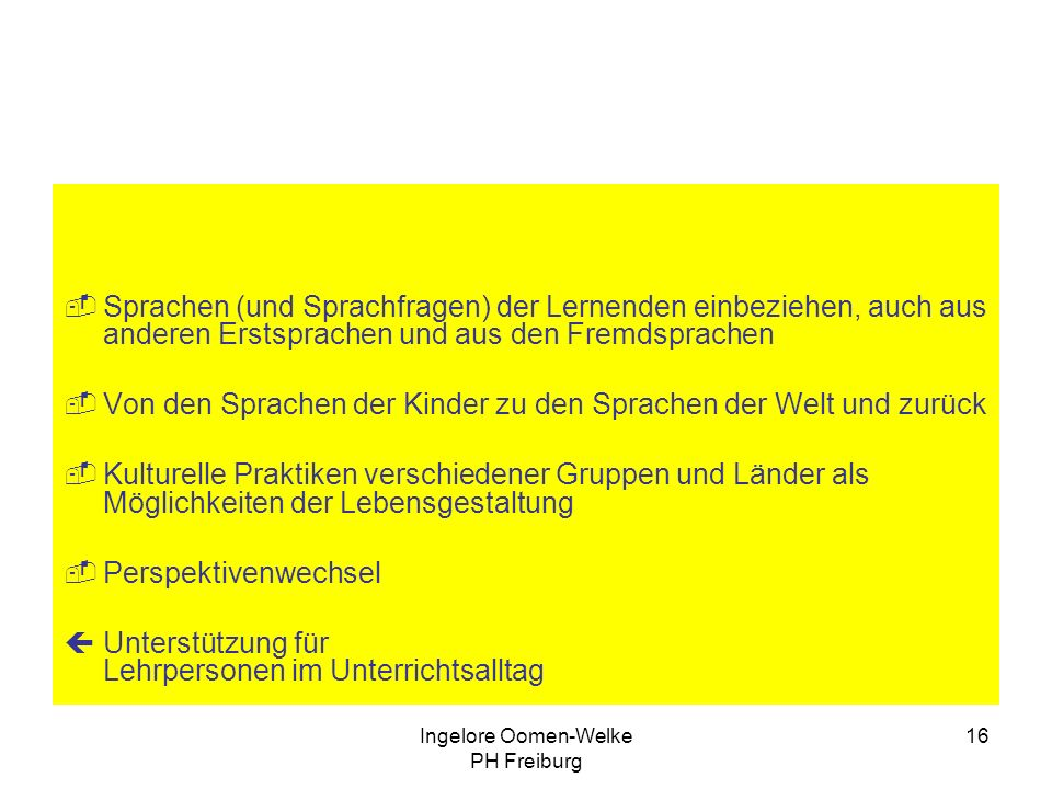 Ingelore Oomen-Welke PH Freiburg