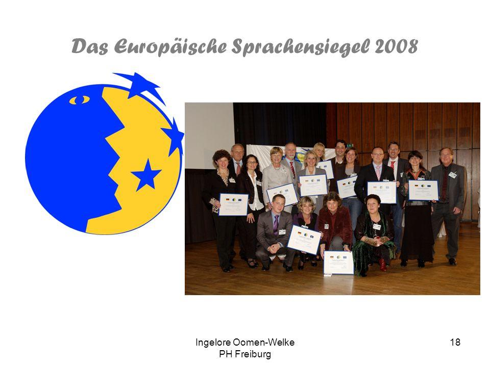 Das Europäische Sprachensiegel 2008