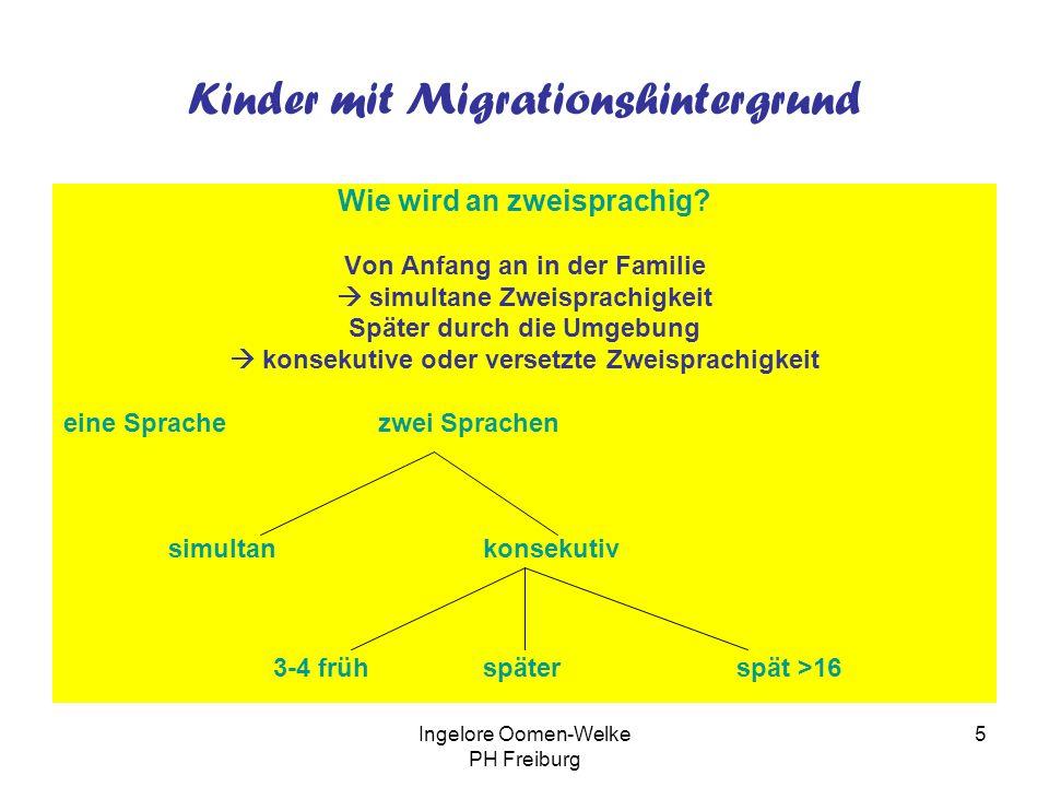 Kinder mit Migrationshintergrund